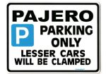 PAJERO Large Metal Sign for mitsubishi 2.8 TD 2.5